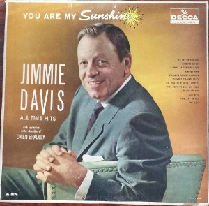 Jimmie Davis You Are My Sunshine Decca Records